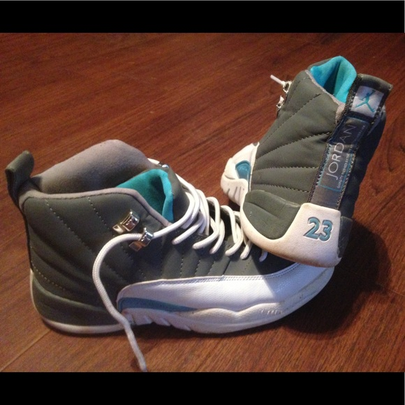 competitive price 47bda aa71f Air Jordan Shoes - Jordans 12 women s size 8 grey blue